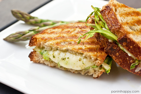 Post image for Grilled Jarlsberg with Shaved Asparagus and Arugula Pesto + Grilled Cheese Kit Giveaway!