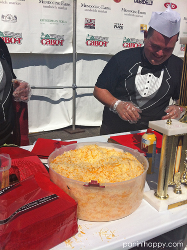 """I asked this guy how much cheese was in this enormous tub. His response: """"About $300 worth!"""""""