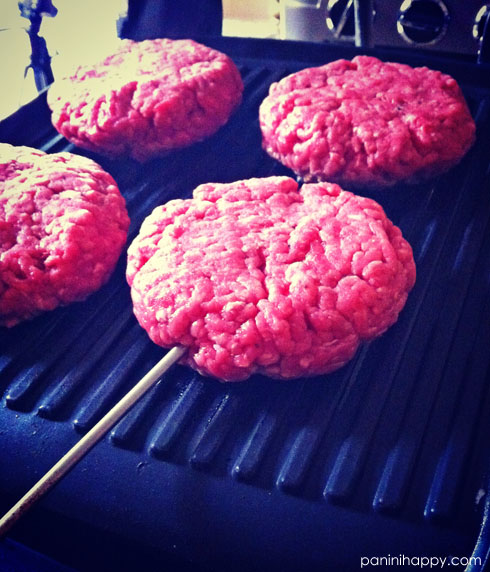 Lay the burgers on the grill