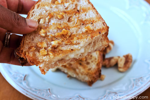 Recipe: Honey Walnut-Crusted Aged Cheddar Panini | Panini ...
