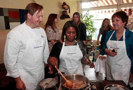 Cooking with Lark Restaurant's chef John Sundstrom and my friend Kalyn Denny of Kalyn's Kitchen