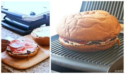 Antipasto Stromboli Panini...get the recipe at www.paninihappy.com