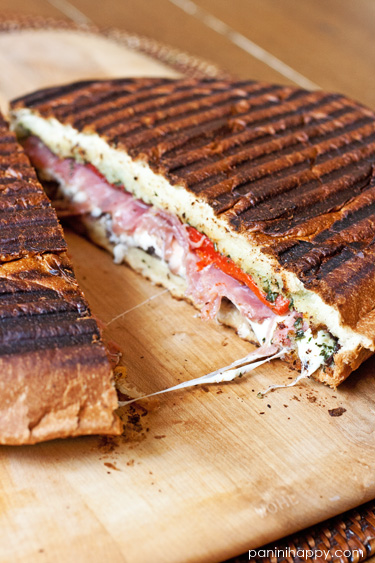 Antipasto Stromboli Panini...get the recipe at www.paninihappy.com