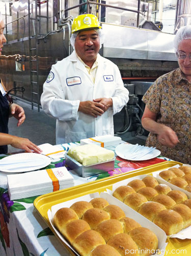 King's Hawaiian CEO Mark Taira treats us to fresh-baked honey wheat rolls, hot off of the bakery line
