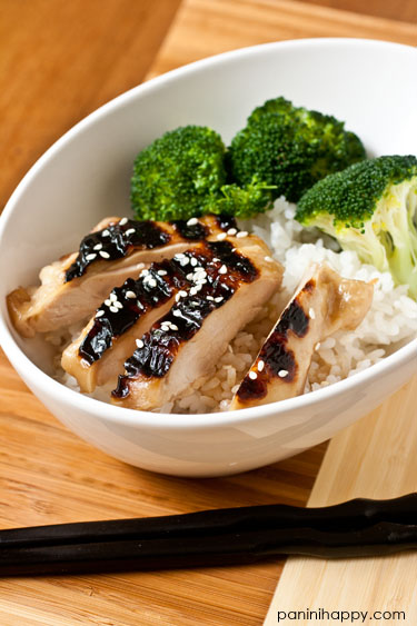 Panini-Grilled Chicken Teriyaki...get the recipe at www.paninihappy.com