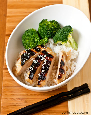 Panini-Grilled Chicken Teriyaki...get the #recipe at www.paninihappy.com (c) Kathy Strahs