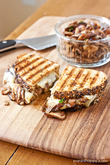 Post image for Wild Mushroom Melt Panini