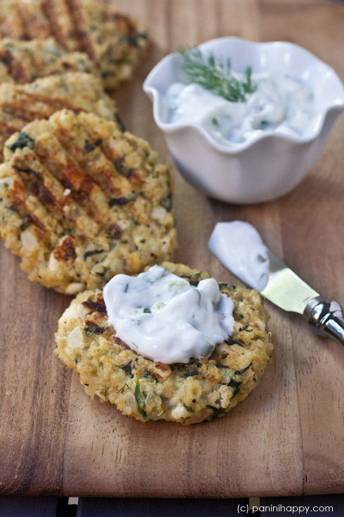 Post image for Spinach-Feta Quinoa Cakes…plus 5 Quick Dinners on the Panini Press