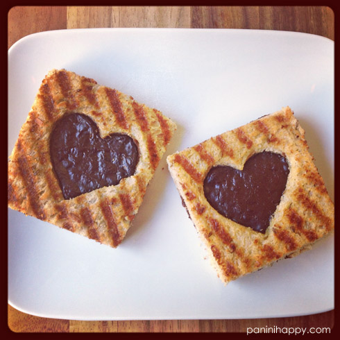 Dark Chocolate Sweetheart Panini