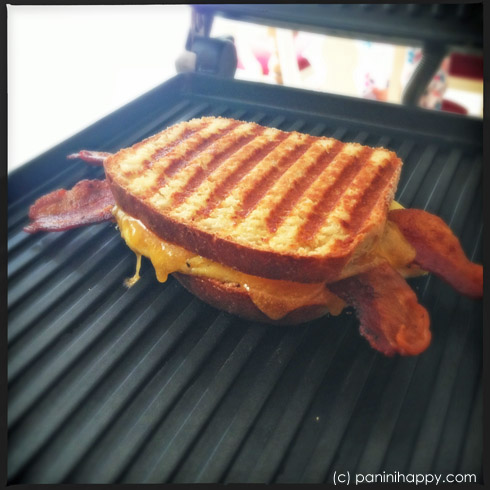 Bacon, Egg and Cheddar Grilled Cheese Panini