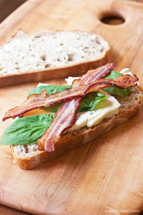 Grilled Cambozola, Bacon and Basil Sandwich from Heather Christo's Generous Table