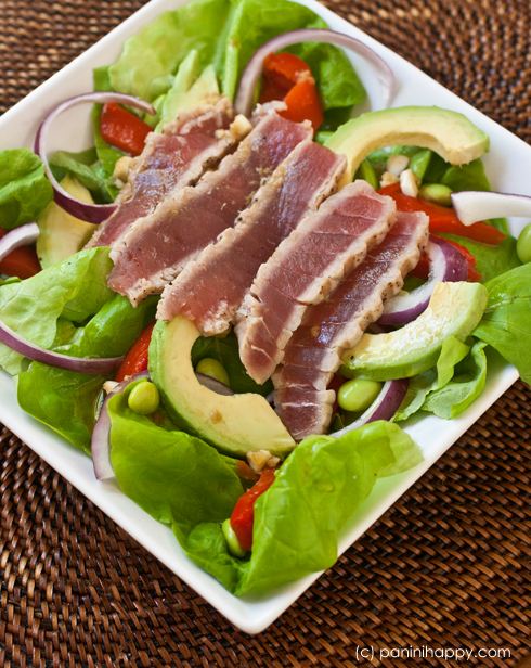 Seared Ahi and Avocado Salad ...from paninihappy.com