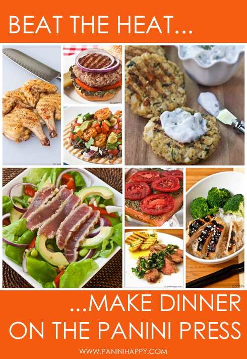 Post image for Seared Ahi and Avocado Salad…plus 8 Summertime Dinners on the Panini Press