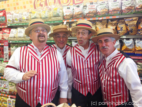 A barbershop quartet made it a true ice cream social