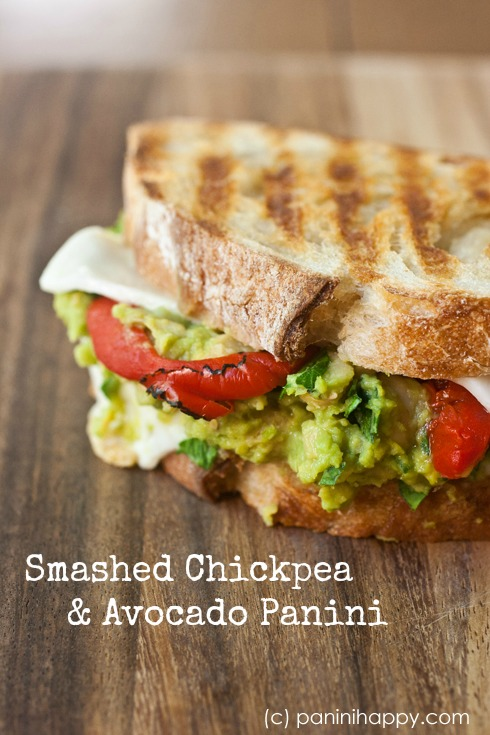 Post image for Smashed Chickpea and Avocado Panini