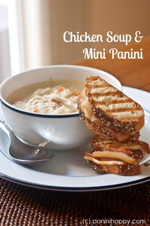 Post image for Chicken Soup and Mini Panini