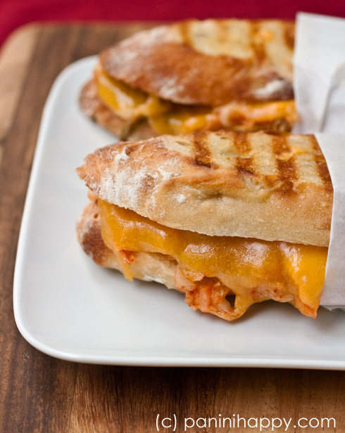 Kimchi Grilled Cheese Panini ...get the recipe at PaniniHappy.com