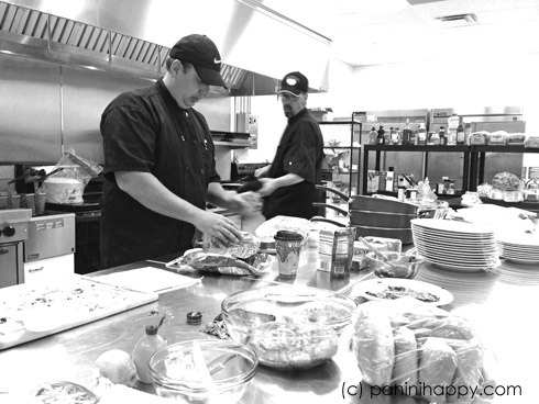 Chefs preparing the entries