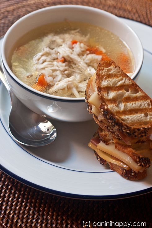 Chicken Soup and Mini Panini