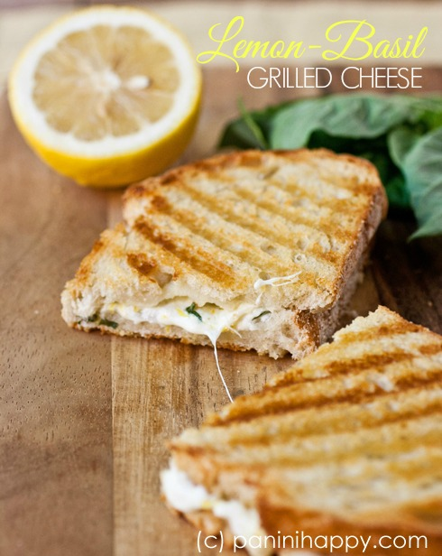 Lemon-Basil Grilled Cheese Panini ...the most fresh-tasting grilled cheese sandwiches you're going to find