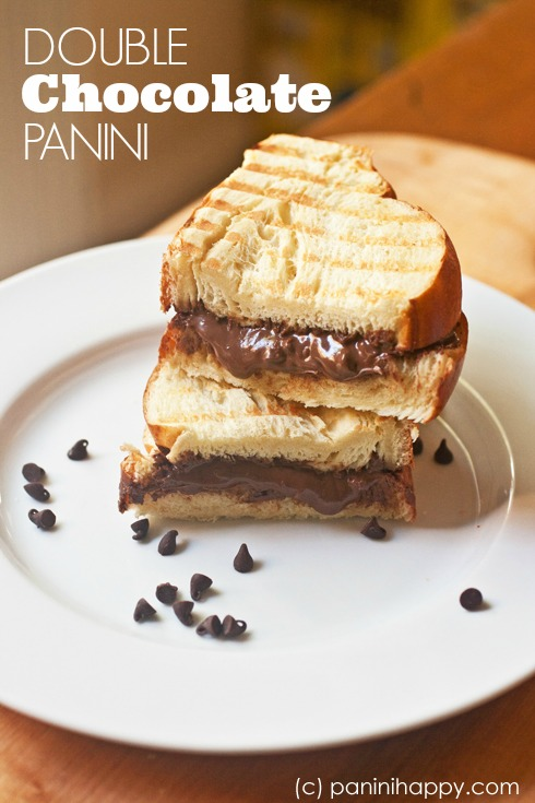 Double Chocolate Panini ...the ultimate dessert sandwich!