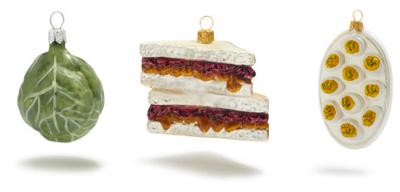 More than 100 unique food ornaments at Sur La Table!