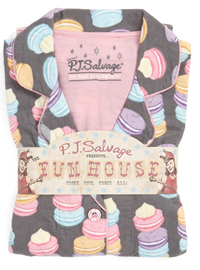PJ Salvage Macaron Flannel Pajama Set -- these are just too cute