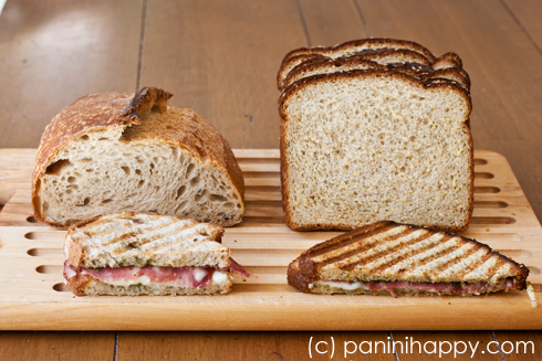 When it comes to making panini, denser bread is best.
