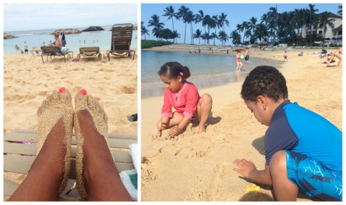Relaxing times at the beach at Ko Olina