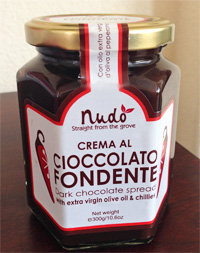 Nudo Dark Chocolate Spread with Extra Virgin Olive Oil and Chilies