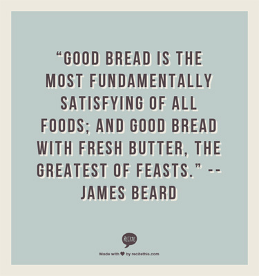 James Beard on good bread and fresh butter