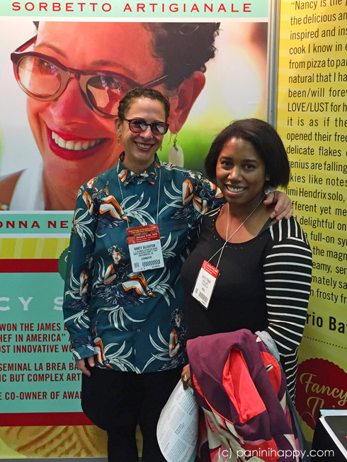 Nancy Silverton and Kathy Strahs at the 2015 Winter Fancy Food Show
