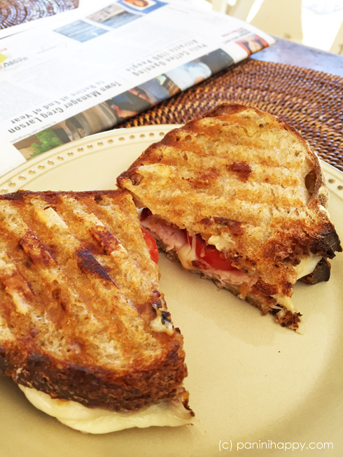Turkey, Bacon Lattice and Havarti Panini